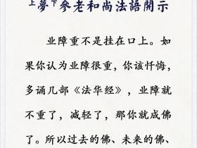 百岁高僧开示:不精进,业障重怎么办?